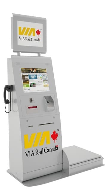VIA Rail Canada Ticketing Kiosk